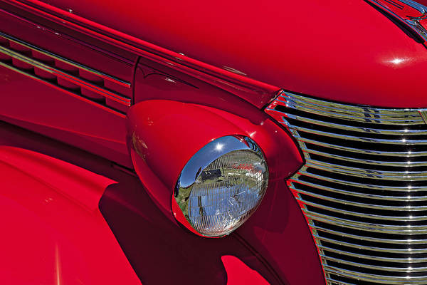 Red 1938 Chevy Coupe Art Print featuring the photograph Red 1938 Chevy Coupe by Garry Gay