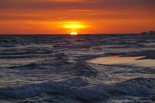 Sunset Art Print featuring the photograph Red Skies At Night by Charles Warren