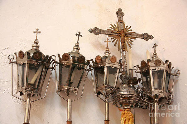 Lanterns Art Print featuring the photograph Religious Artifacts by Gaspar Avila