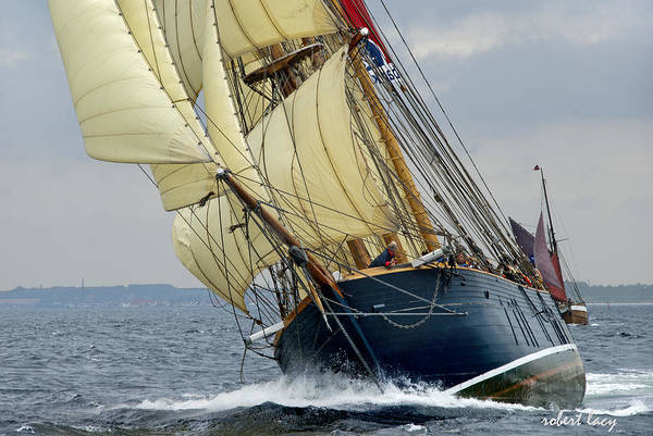 Sailing Ship Art Print featuring the photograph Riding The Wind by Robert Lacy
