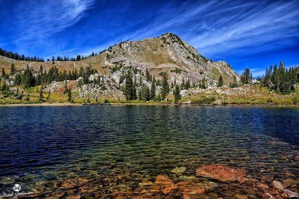 Lake Art Print featuring the photograph Ripply Waters Of Lake Cathrine by Mitch Johanson
