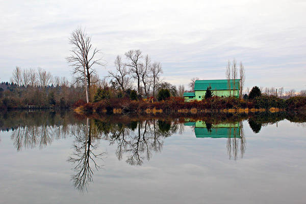 Agriculture Art Print featuring the photograph River Reflections by Paul Fell