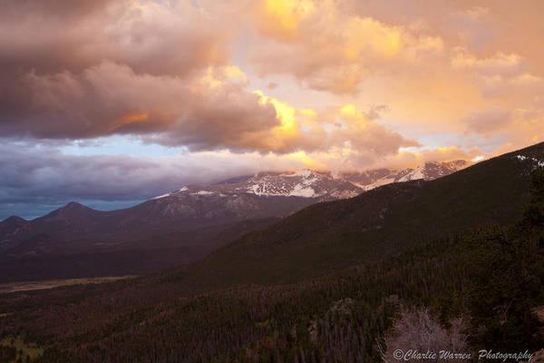 Rocky Mountains Art Print featuring the photograph Rocky Mountain Sunset by Charles Warren