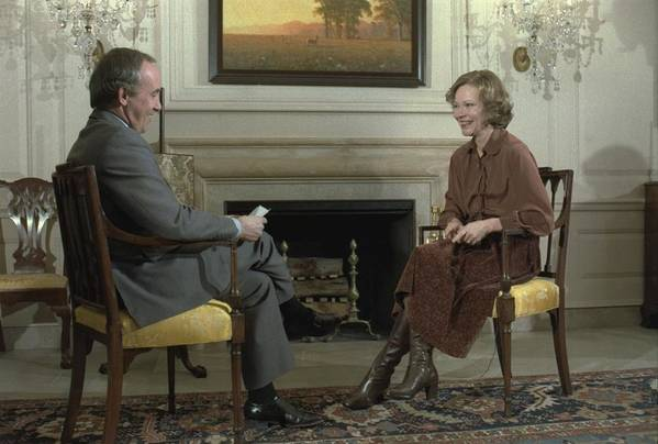 History Art Print featuring the photograph Rosalynn Carter During A White House by Everett