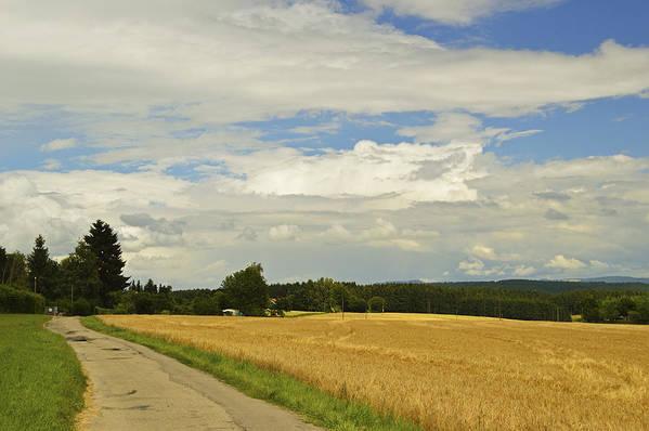 Horizontal Art Print featuring the photograph Rural Scene, Near Villingen-schwenningen by Jochen Schlenker