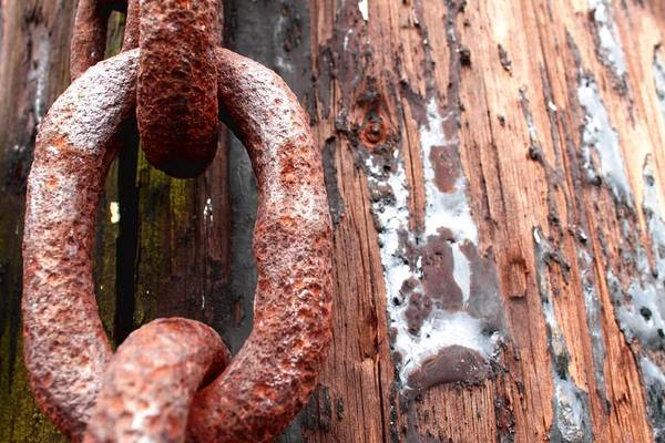 Rust Art Print featuring the photograph Rusty Link I by Beth Buelow