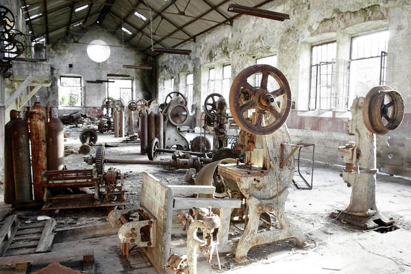 Abandoned Art Print featuring the photograph Rusty Machinery by Carlos Caetano
