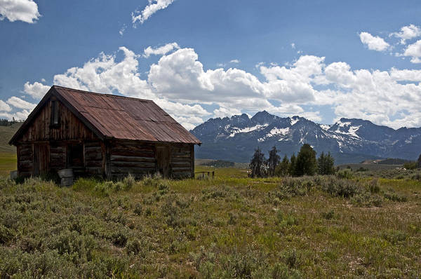 Cabins Art Print featuring the photograph Sawtooth Cabin by Eric Nelson