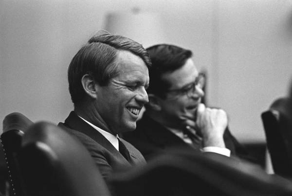 History Print featuring the photograph Sen. Robert Kennedy And Ted Sorenson by Everett