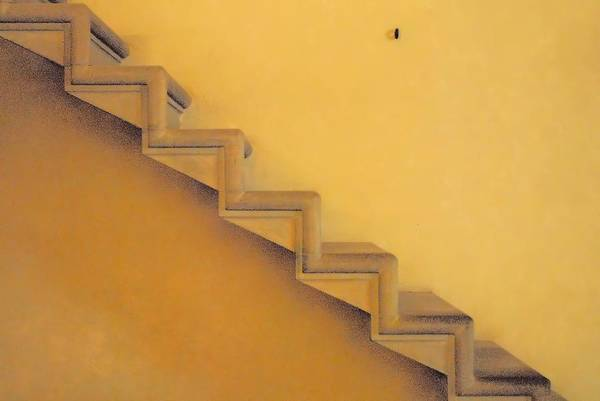 Stairs Art Print featuring the photograph Seven Steps To by