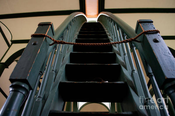 Sharon Temple Art Print featuring the photograph Sharon Temple Stairs by Gary Chapple