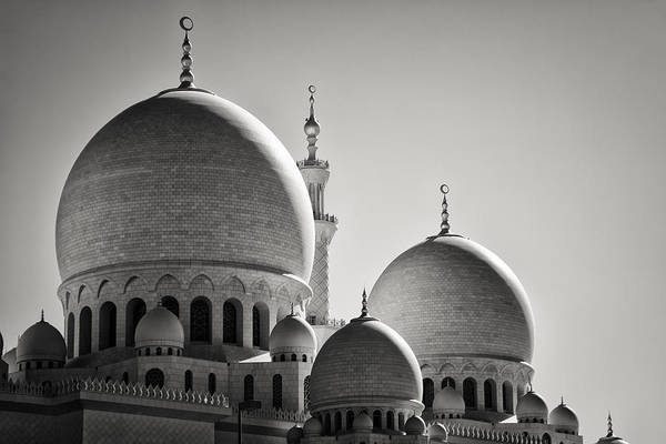Architecture Art Print featuring the photograph Sheikh Zayed Mosque by Daniel Nahabedian