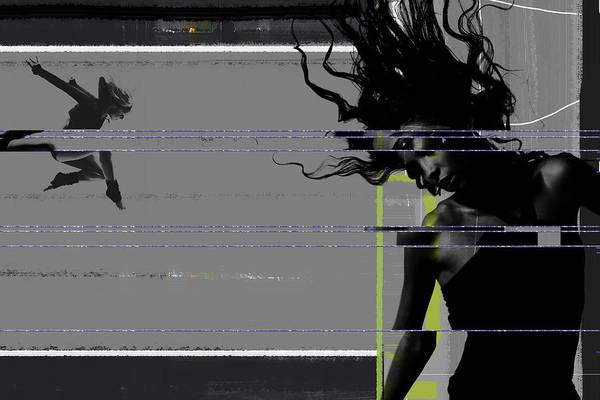 Dancing Art Print featuring the photograph Shuttered Glass by Naxart Studio