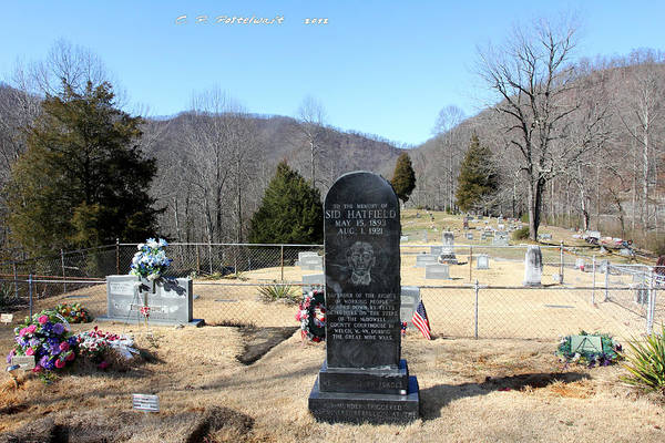 Sid Hatfield Art Print featuring the photograph Sid Hatfield Grave Marker by Carolyn Postelwait