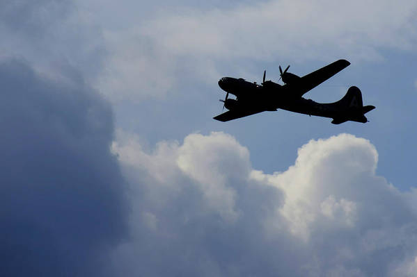 B 29 Art Print featuring the photograph Silhouette by Dieter Lesche