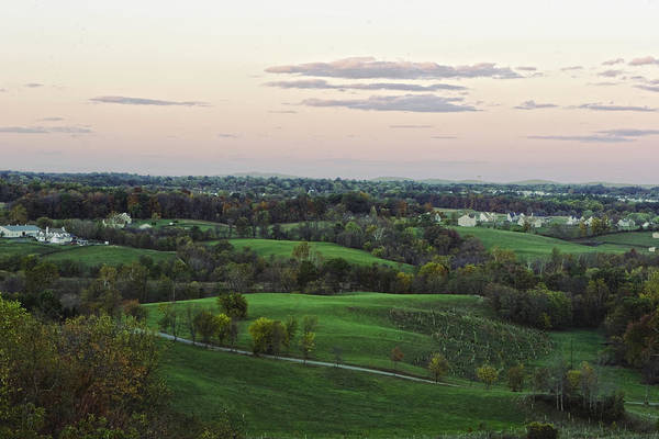 Rolling Hills Art Print featuring the photograph Silo View by Dave Levinson