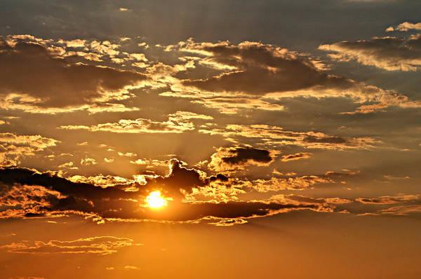 Sun Art Print featuring the photograph Sky Ablaze 1 by Marty Koch