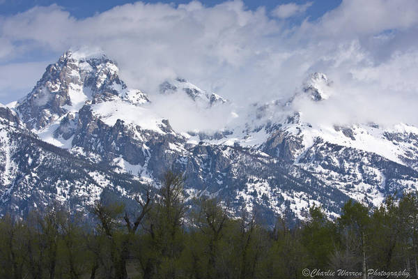 Grand Tetons Art Print featuring the photograph Skyscapers by Charles Warren