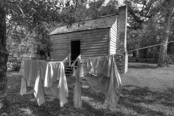 Slaves Art Print featuring the photograph Slave's Quarters by Bourbon Street