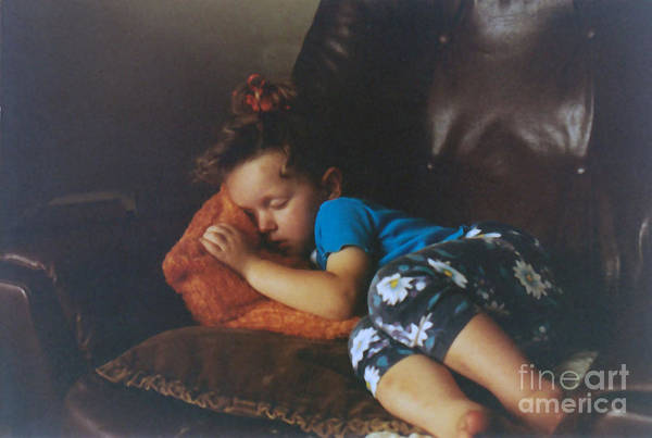 Child Photographs Art Print featuring the photograph Sleeping Beauty by Joanne Kocwin