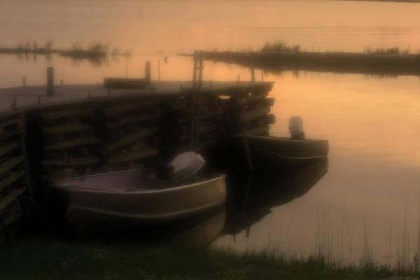 Darren Creighton Art Print featuring the photograph soft sunset on Myles Bay by Darren Creighton