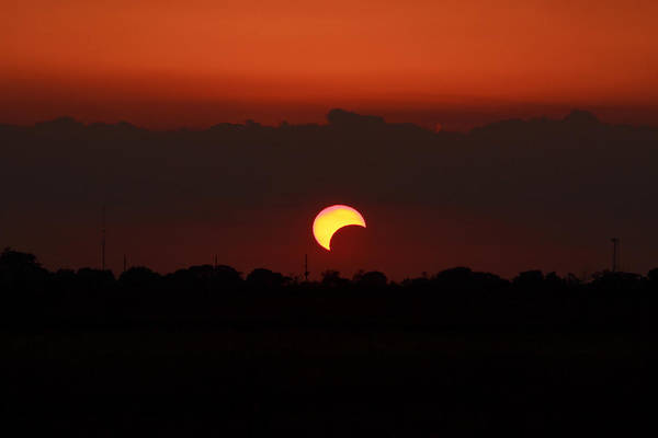Solar Art Print featuring the photograph Solar Eclipse 2012 by Linda Unger