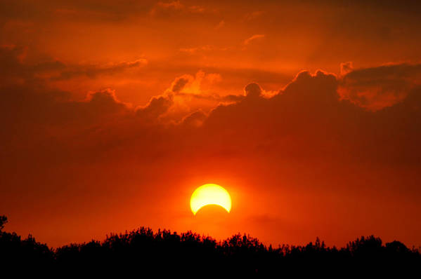 Solar Eclipse Art Print featuring the photograph Solar Eclipse by Bill Pevlor