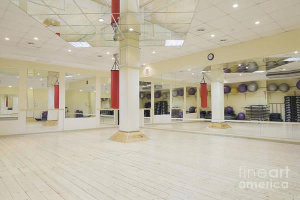 Balls Art Print featuring the photograph Spacious Gym by Magomed Magomedagaev