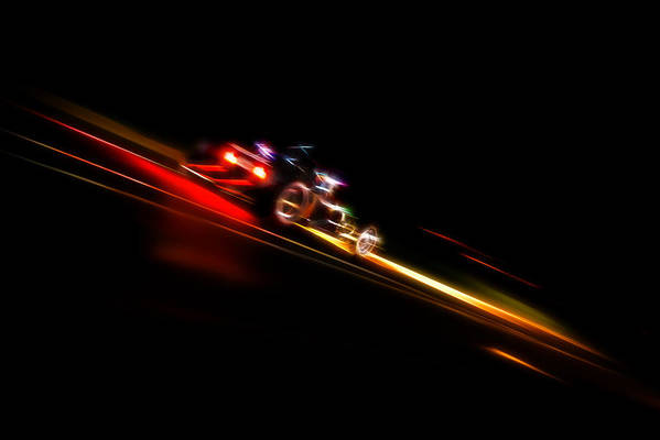Hot Rod Art Print featuring the photograph Speeding Hot Rod by Phil 'motography' Clark