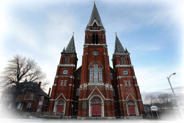 St. Art Print featuring the photograph St. Josaphat Roman Catholic Church Detroit Michigan by Gordon Dean II