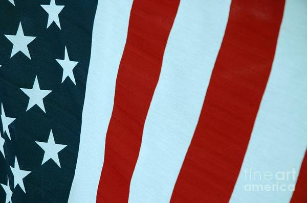 Stars Art Print featuring the photograph Stars And Bars by Susan Carella