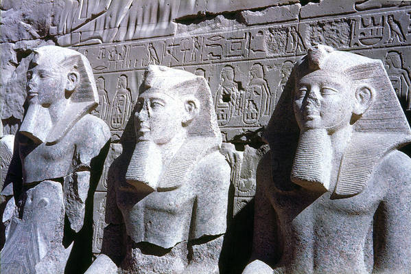 19th Dynasty Art Print featuring the photograph Statues Of Ramses II by Granger
