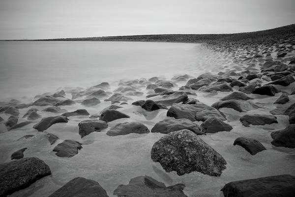 Horizontal Art Print featuring the photograph Stones In North Sea In Germany by by Felix Schmidt