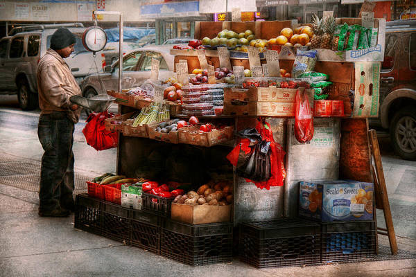Chelsea Art Print featuring the photograph Store - Ny - Chelsea - Fresh Fruit Stand by Mike Savad
