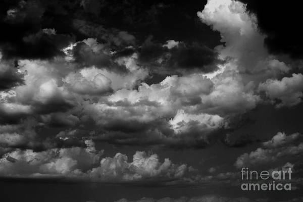 Black And White Art Print featuring the photograph Storm Clouds 1 by Ashley M Conger
