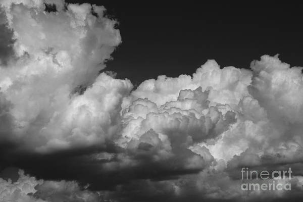 Black And White Art Print featuring the photograph Storm Clouds 2 by Ashley M Conger