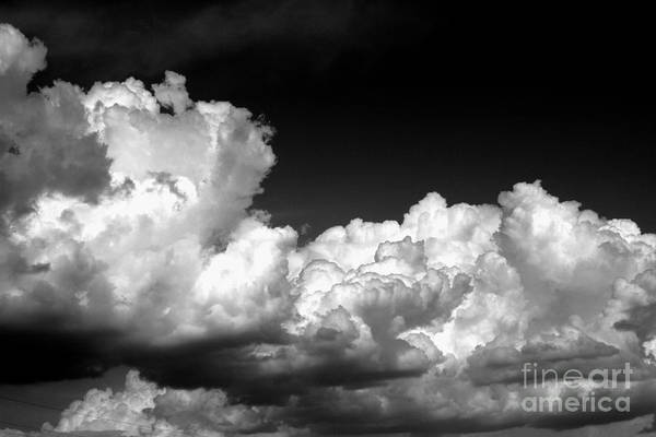 Black And White Art Print featuring the photograph Storm Clouds 3 by Ashley M Conger