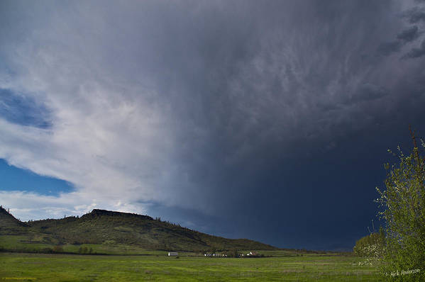 Table Rock Art Print featuring the photograph Storm Over Table Rock by Mick Anderson