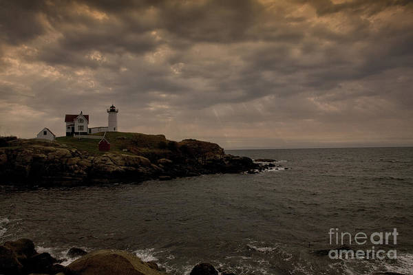 Cape Neddick Print featuring the photograph Stormy Nubble by Timothy Johnson