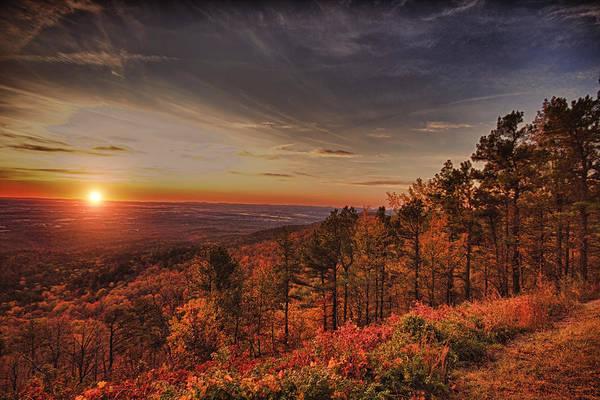 Sunrise Print featuring the photograph Sunrise 2-talimena Scenic Drive Arkansas by Douglas Barnard