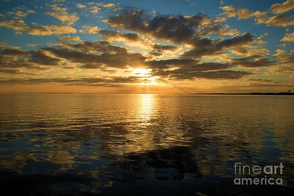 North Carolina Outer Banks Art Print featuring the photograph Sunrise At The Banks by Adam Jewell