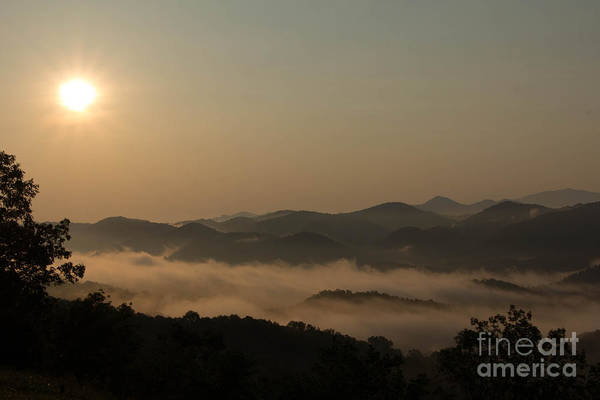 Landscape Art Print featuring the photograph Sunrise In The Mountains by Ursula Lawrence