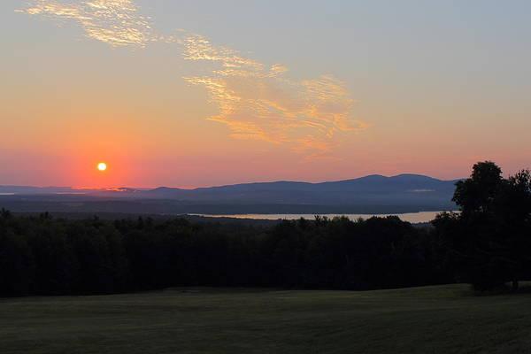 Lake Winnisquam Art Print featuring the photograph Sunrise Over Lake Winnisquam by Jeff Heimlich