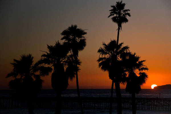 San Clemente Art Print featuring the photograph sunset in Califiornia by Ralf Kaiser