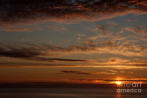Abstract Art Print featuring the photograph Sunset In The Pacific Ocean 3 by Robert Wirth