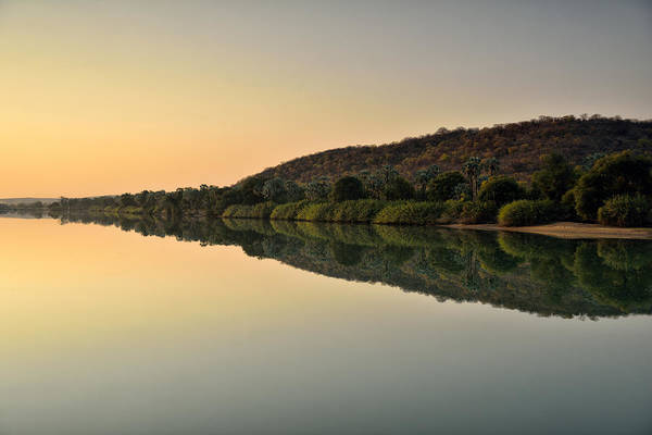 Horizontal Art Print featuring the photograph Sunset On Kunene River, Namibia by Marco Brivio