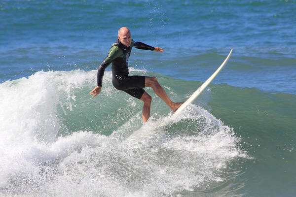 Person Art Print featuring the photograph Surfer by Judith Szantyr
