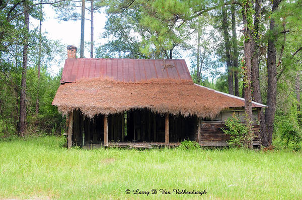 Florida Art Print featuring the photograph Swamp House Or Cracker Cabin by Larry Van Valkenburgh