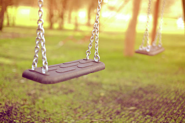 Horizontal Art Print featuring the photograph Swings In Park by Rob Webb