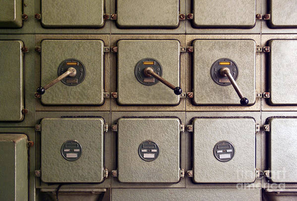 Automation Art Print featuring the photograph Switch Panel by Carlos Caetano